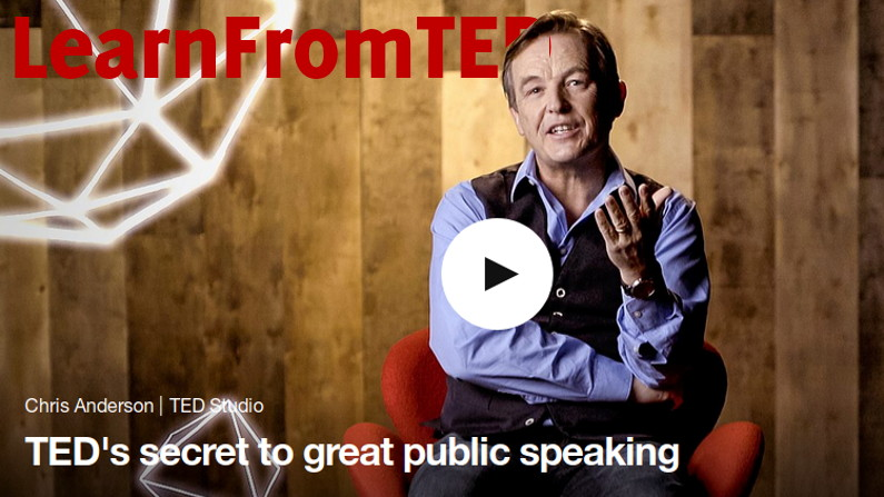 Ted's Secrets to Great Public Speaking